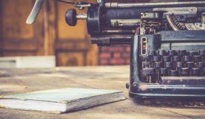 Home page illustratie Uitgeverij De Biograaf - Biografiën maken in opdracht - oude remington